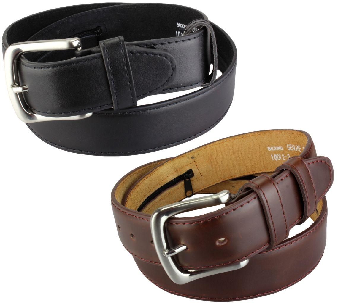 ceinture cache billets en cuir simili noir ou marron avec poche secr te ebay. Black Bedroom Furniture Sets. Home Design Ideas